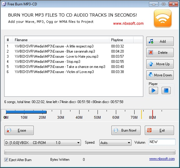 Free Burn MP3-CD 1.2