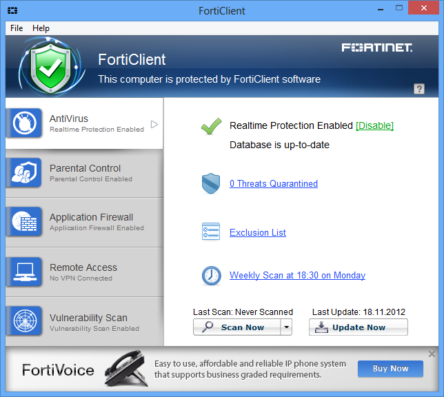 FortiClient для Windows 5.0.7.333 (x32 & x64)