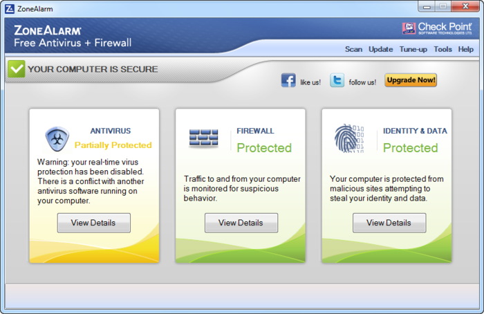 ZoneAlarm Free Antivirus + Firewall 12.0.118.000